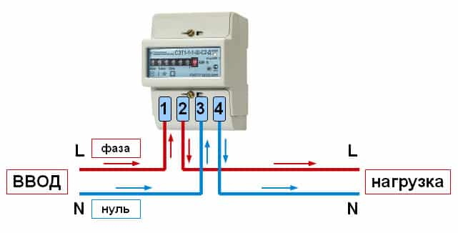 подключение электросчетчика 1 фаза