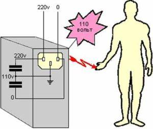 Напряжение на корпусе бытовых приборов 110 вольт ?