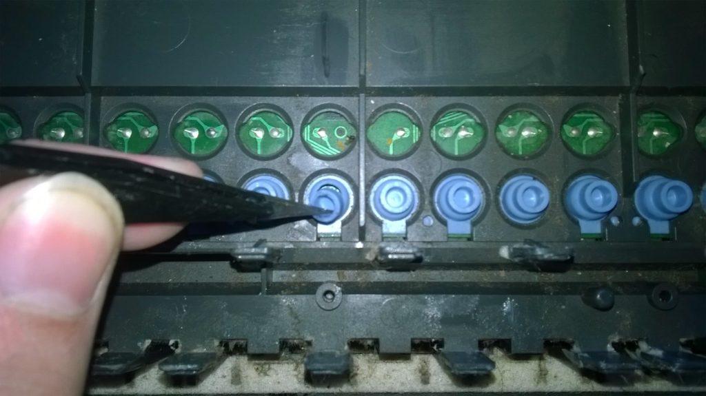 Замена реpинки клавиш синтезатора Casio