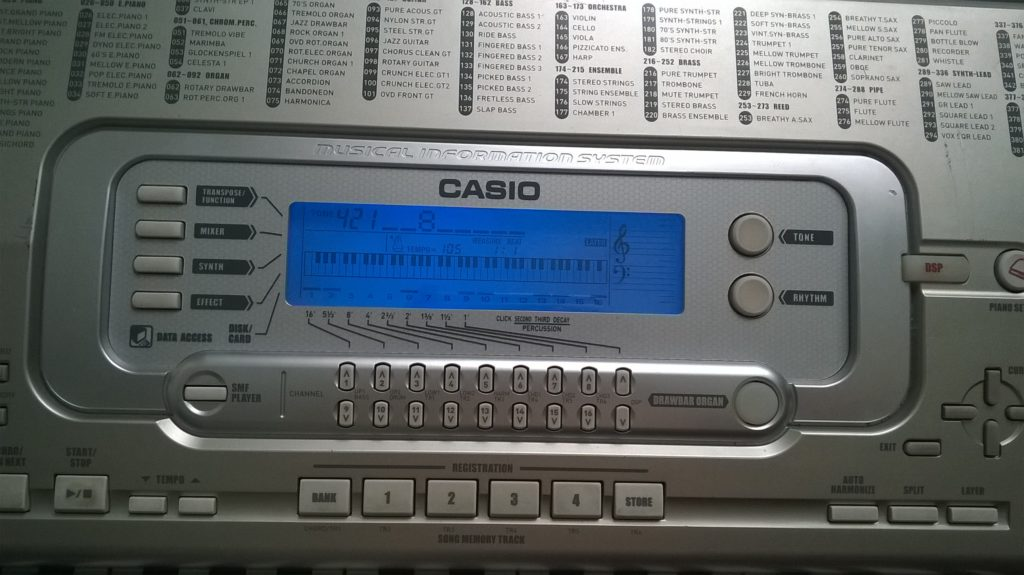 Ремонт синтезатора Casio Wk-3300