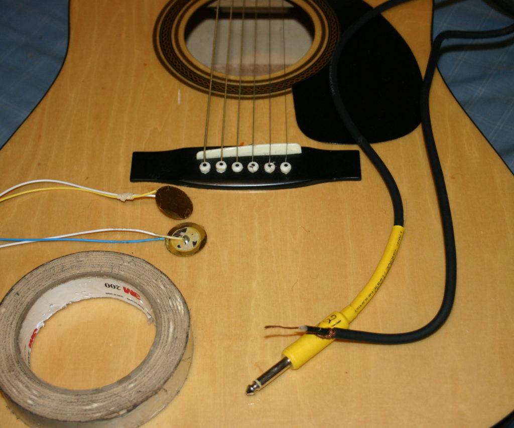 ПЬезоэлемент в качестве звукоснимателя для гитары