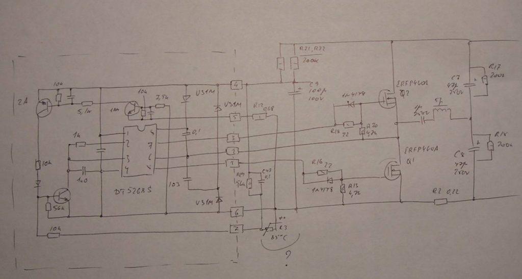 Схема модуля желтой коробочки шим блока питания lux 152a