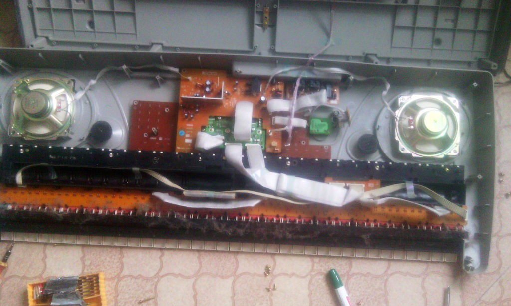 Прочистка синтезатора Yamaha PSR в Рязани