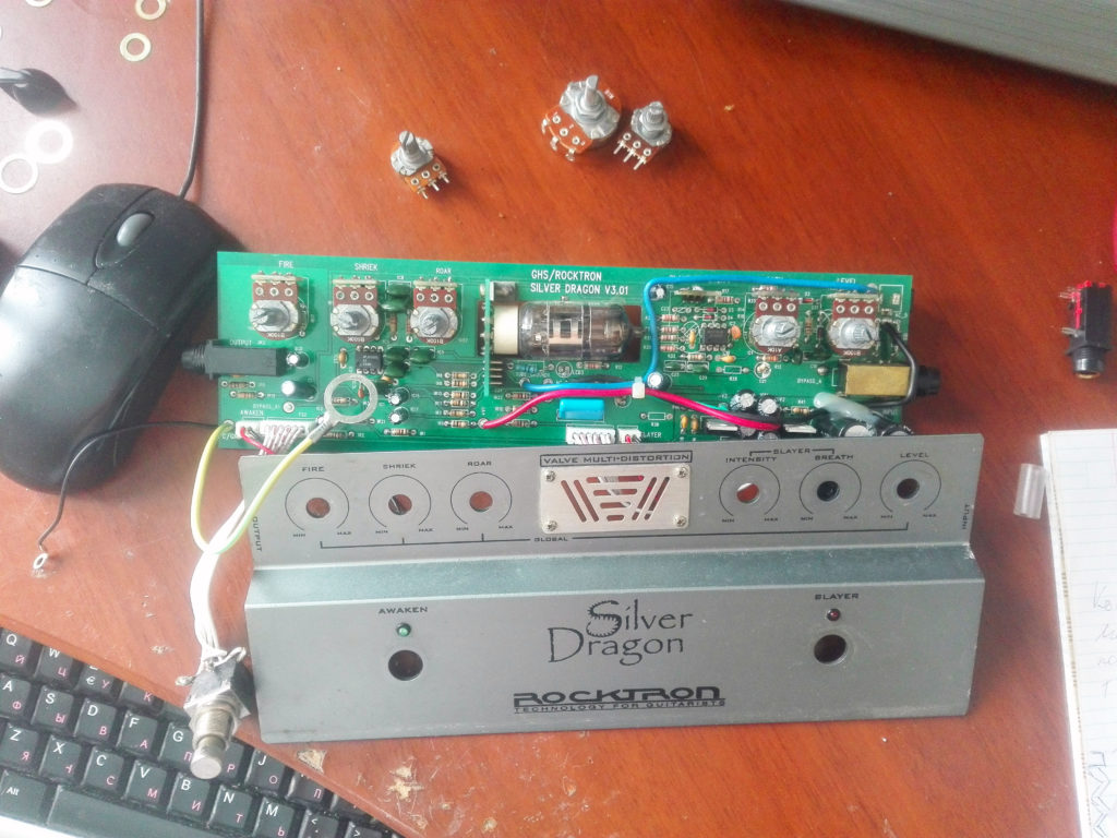 Схема Rocktron Silver Dragon Distortion