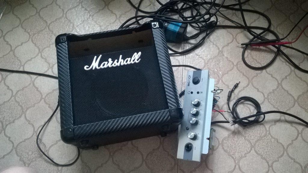 Ремонт комбика Marshall MG10