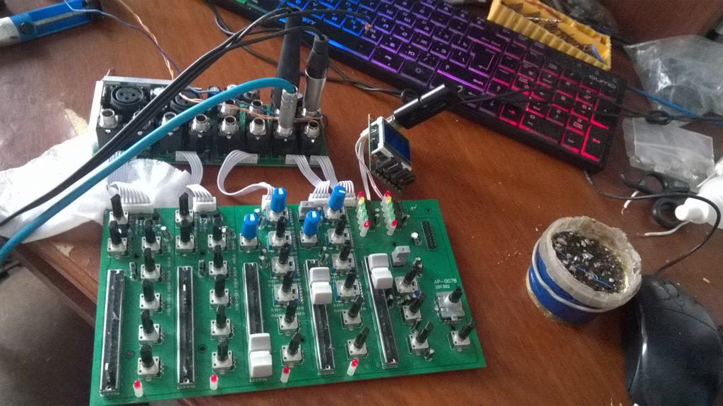 Ремонт процессора эффектов микшерного пульта